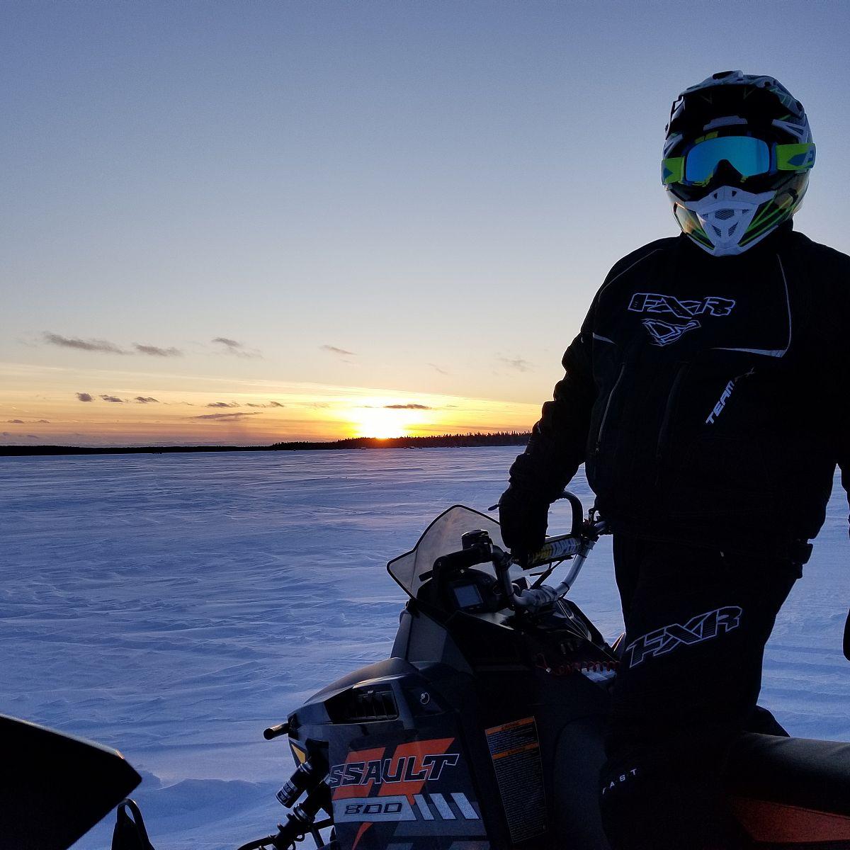 Beautiful sunset and my awesome husband!