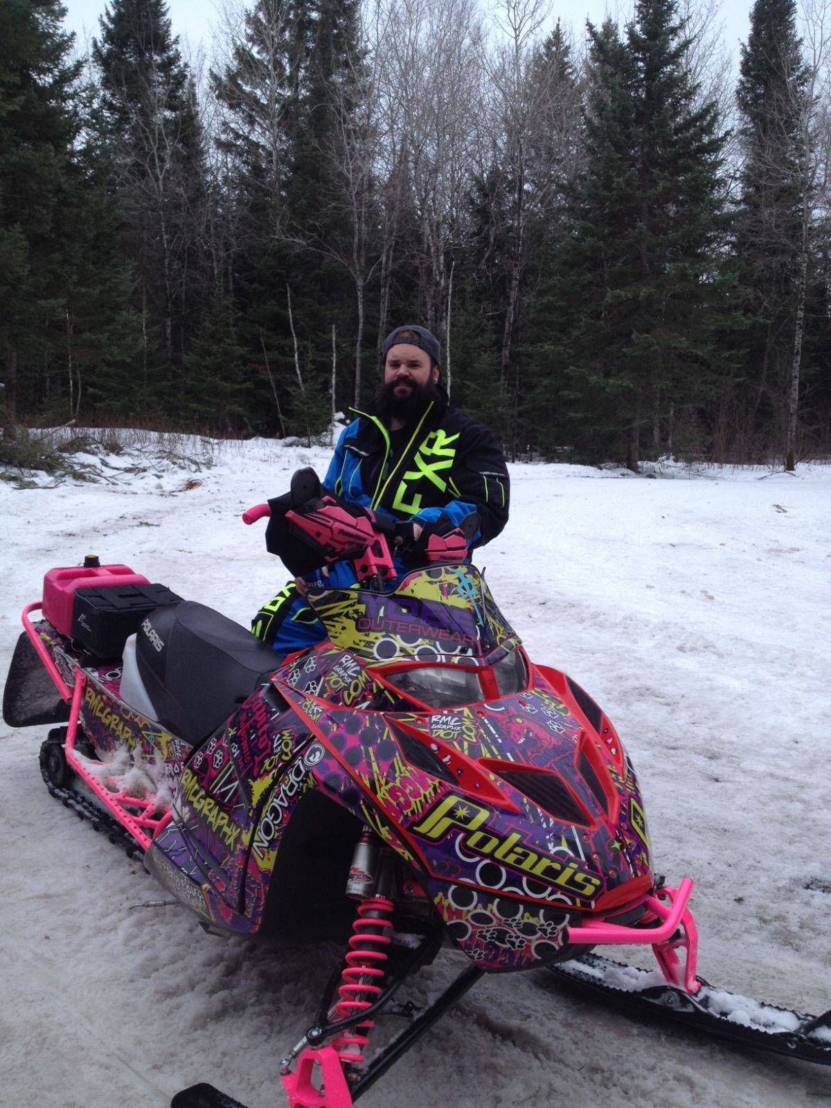 When your wife's sled is way cooler than yours... you get a pic with it