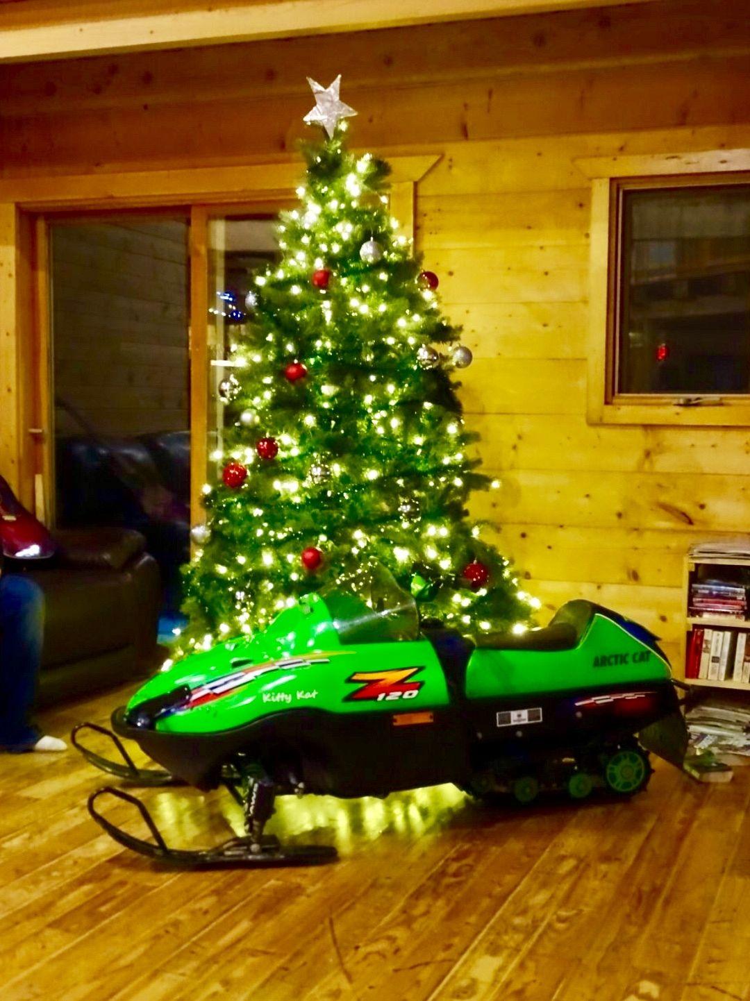 A sledder Christmas. A boy's first sled