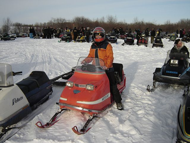 Me with my 1970 Motoski Zephyr at Minnedosa Relic Derby - great day!