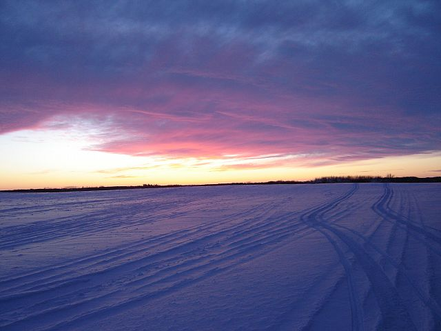 nothing like a Manitoba sunset during a great ride