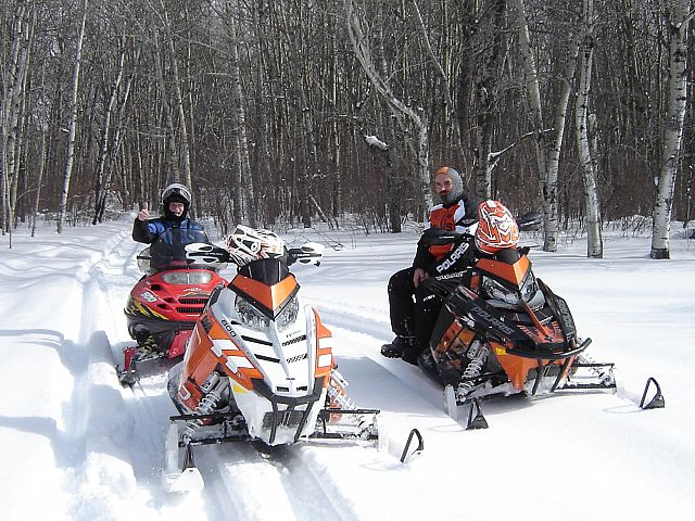 At least once a year, we make the trek from Erickson to the town of Riding Mountain.  There is no groomed trail, but the beautiful scenery is well worth learning the way!