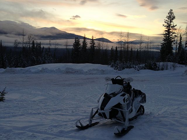 Scene from the staging area at the end of a great day of riding.