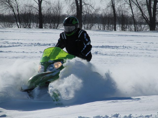 Who new there was 2 feet of powder a mile from home