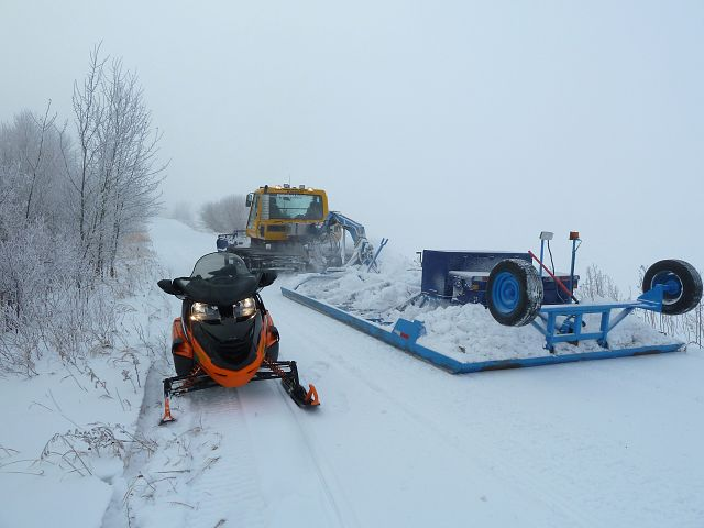 Brokenhead Trail Blazers working hard and doing a fine job for a low snow year.