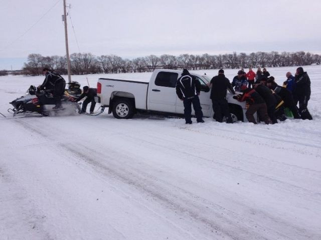 This was taken after the drag races at the dilke sno derby in February.
