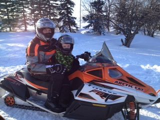 My nephew out for a ride