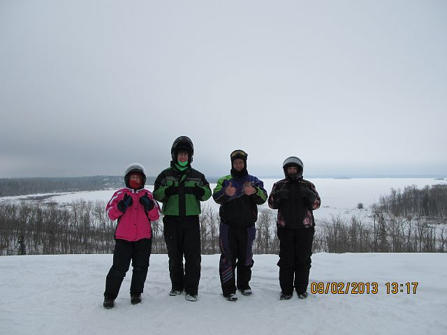 At the top of the world in the Whiteshell