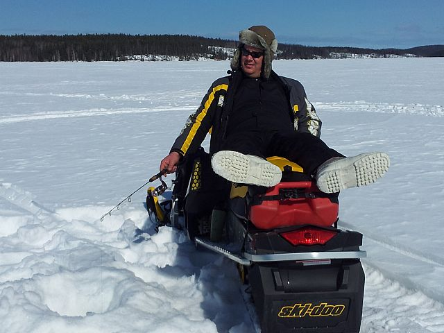 Mantrip Weekend 2013 Ice Fishing and Sledding