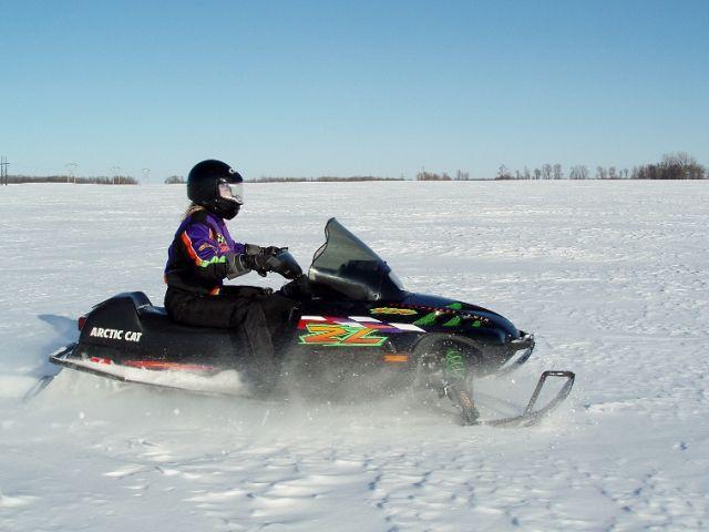 Nicole Gall enjoying the powder snow