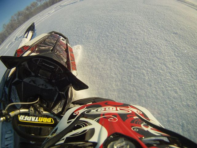 carving with the helmet cam on