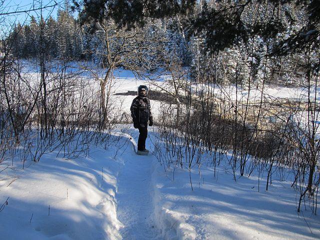 Scenic spot along trail