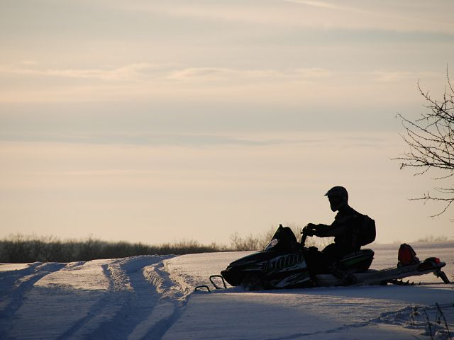 Great evening for sledding.