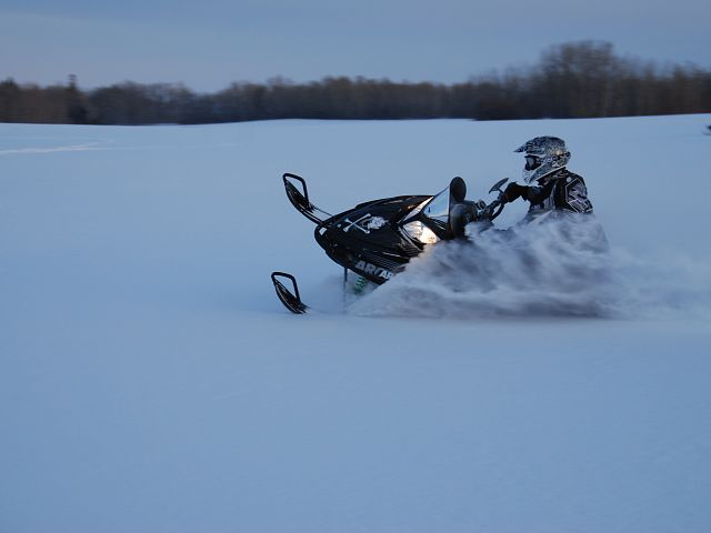My brother did circles around me! I'm sure everyone heard the echo of sleds in the area, it was great!
