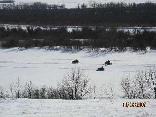 racing on the North Sask