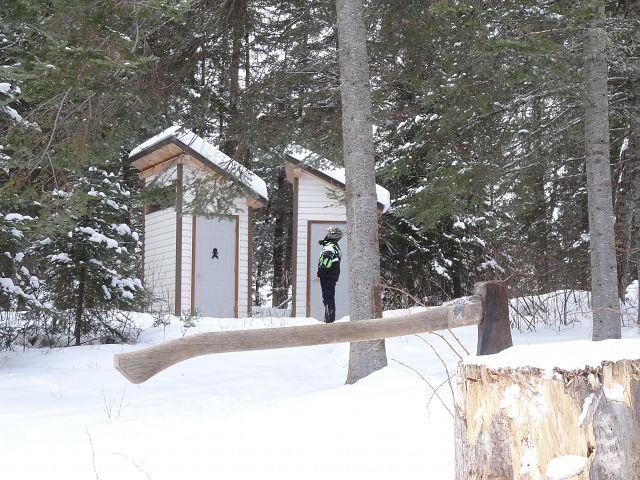 His 'n Her Loos at Zubek Trail Shelter