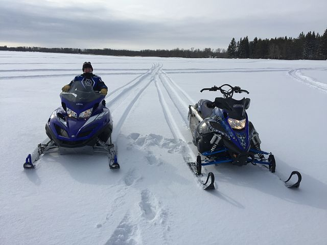 Last rip on the lake with Pops.....March 26th!!! Two lone Yammies!!!! Nothing but fresh pow pow!