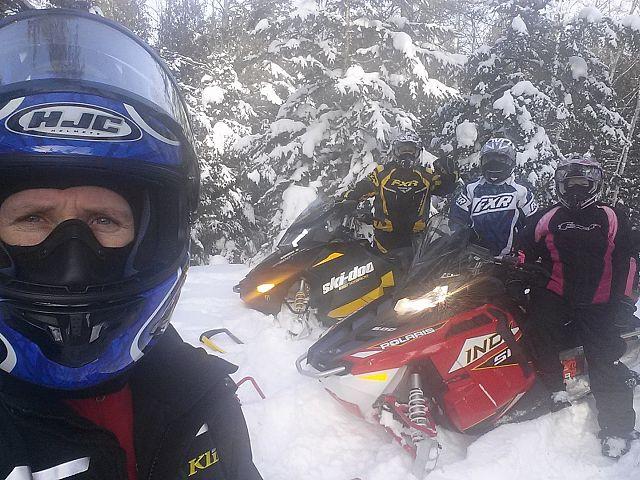 A Sandilands Snowmobiling Selfie.