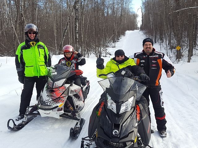 Riding with Snowmobile Royalty