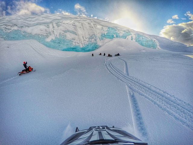 At Hidden Glacier while riding in Stewart BC with the goatsquad from Kitimat.