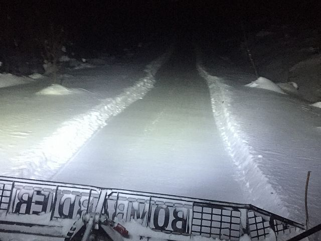 Someone has to groom the trails Prince George snowmobile club grooming all night long