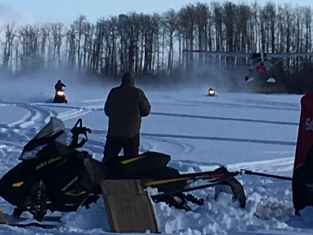 Winter fun! Sledding, ice fishing and planes?!