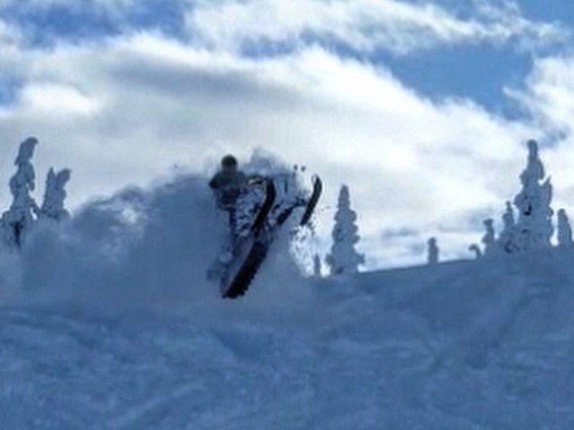 Jumps, deep snow, blue skies. Perfect