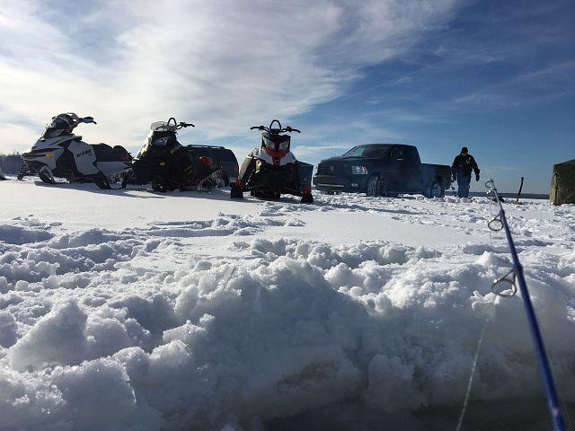 Nothing beats fishing and sledding!