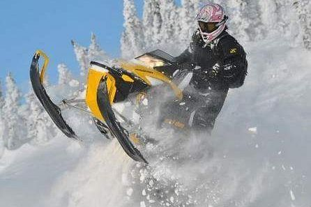 British Columbia snowmobile photo contest winner