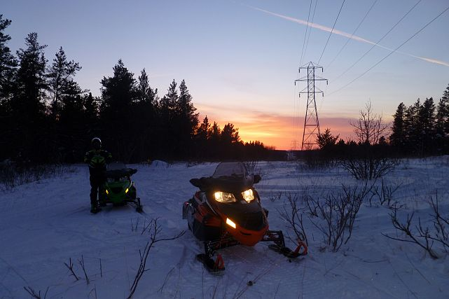 Manitoba snowmobile photo contest winner
