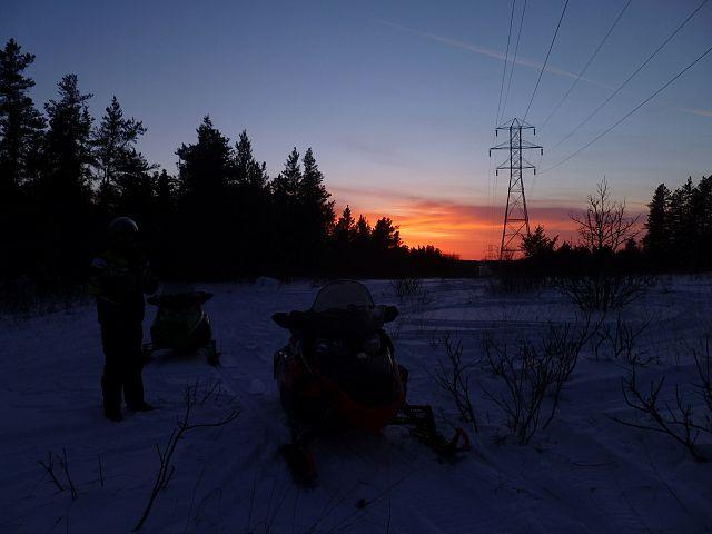 Sunset on trail 50 Dec 22, 2016