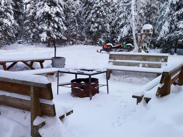 Outside Joyce's Hut