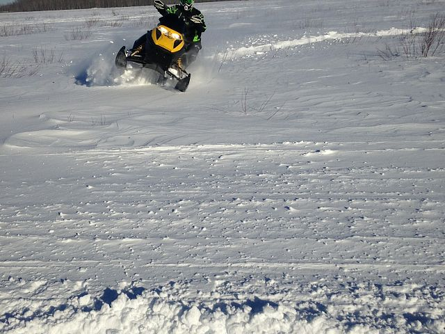 Having fun in the powder