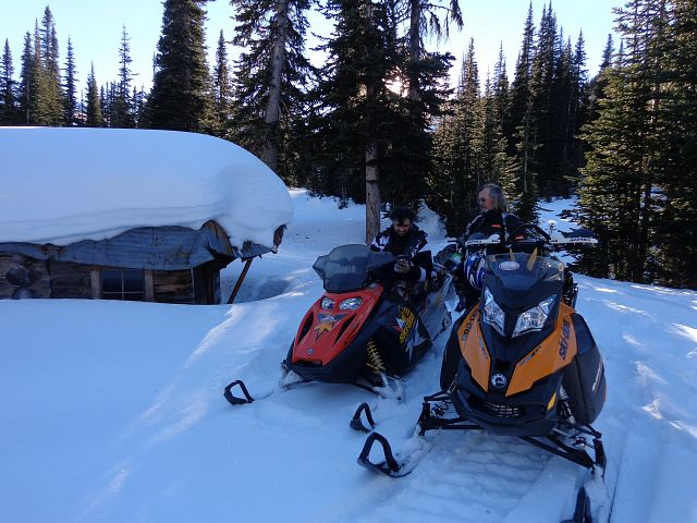 John swapped out his wheelchair for a sled that day...we got to Taylor Cabin and beyond....good times!