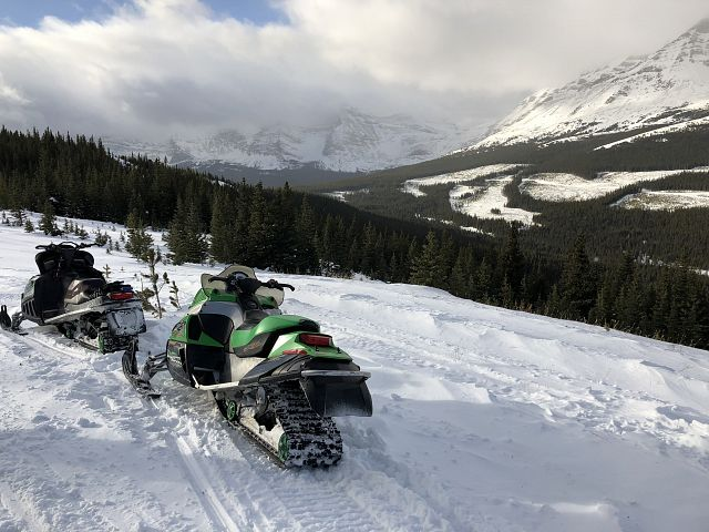 I'm overwhelmed at where a snowmobile can take you