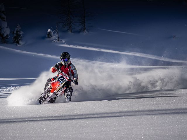 sno-bike fun
