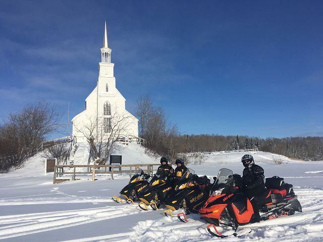 Holy Trinity Anglican Church on the banks of the Churchill River