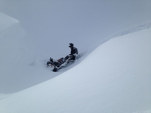 Oops sled found only joke on the whole mountain what a ghost ride. So lucky
