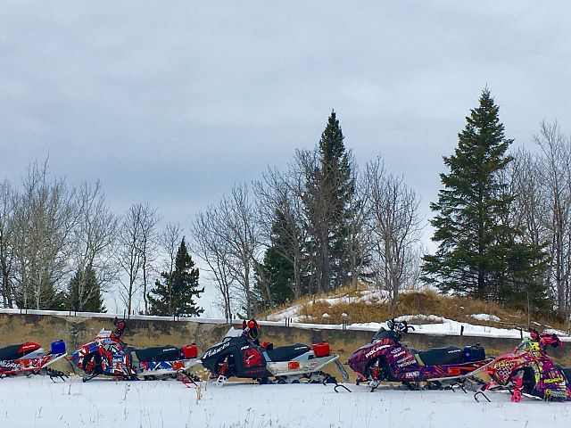 Beauty day for a ride on Saturday.  Snow is quickly disappearing however!