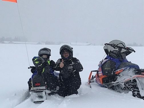 Snow, smiles and thumbs up!