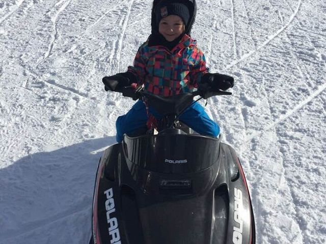 Starting young so I will be able to ride like my Dad!!!